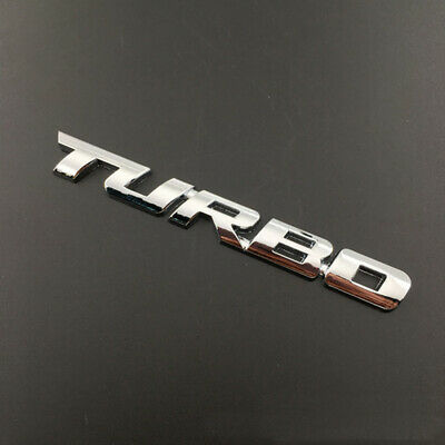 3D TURBO Letter Sticker Metal Emblem Badge Auto Car Styling Decal Logo Silver