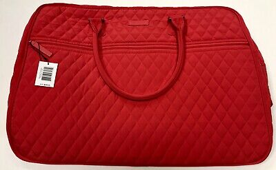 Vera Bradley Grand Traveler Fire Red Luggage Carryon Bag Authentic New With Tags