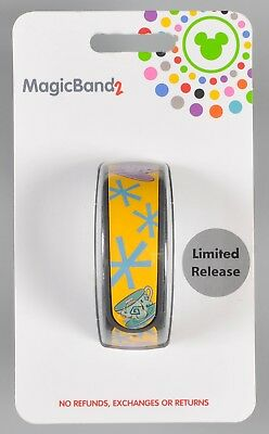 Disney Parks Magic Band 2 Alice in Wonderland Mad Tea Party Teacups Yellow NEW