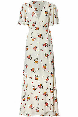 228da1e515b446 Privacy Please Cream Ivory Women's Size Small S Floral Wrap Dress $248- #344
