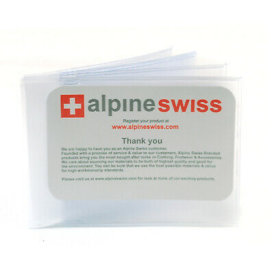 Alpine Swiss SET OF 2 Wallet Insert Replacements 6 page Card Holder Made in USA