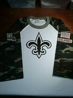 new style 04814 4a750 NEW ORLEANS SAINTS Salute To Service Shirt.your Choice Of Military Service  Logo