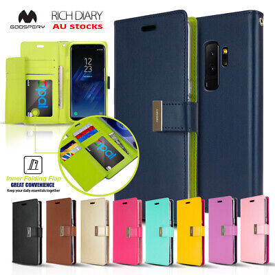 For Note 9 8 S9 Plus S7 S6 GOOSPERY Flip Leather Magnetic Wallet Case