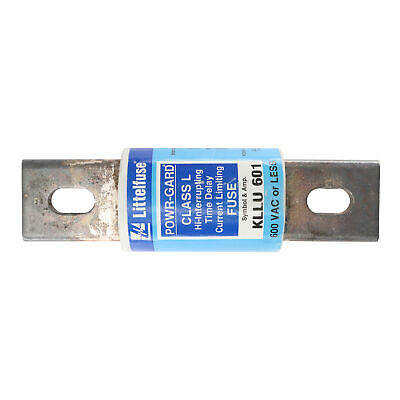 Littelfuse Kllu-601 Time-Delay Hi-Interrupting Fuse, Class L, 600V, 601A