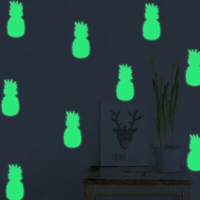Wall Stickers Cartoon Pineapple Glow In Dark Cute Luminous Fluorescent LG