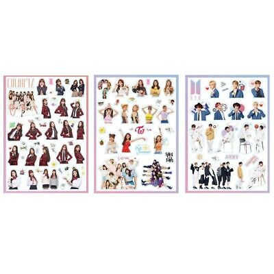 KPOP BTS Stickers TWICE IZONE DIY Waterproof Transparent Sticker Scrapbooking