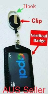 retractable lanyard id badge opal card holder business security Pass aus stock