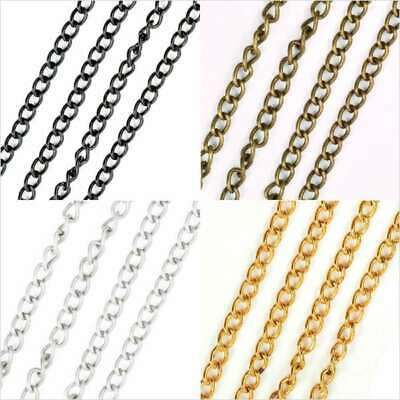 4m Premium Open Link Unfinished Curb Chain Bulk Jewelry Necklace Making EB