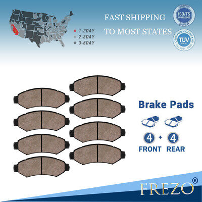 Front /& Rear Ceramic Brake Pads For 2002-2005 Ford Explorer Mercury Mountaineer