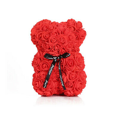 Rose Bear Red Artificial Flower Bear Wedding Valentine's Day Gift Kids Toy