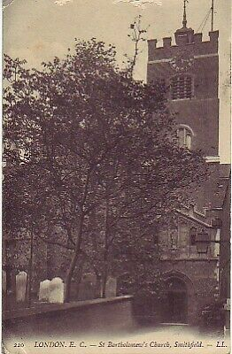 UK - St Bartholomew's Church, Smithfield (Post Card) 1907