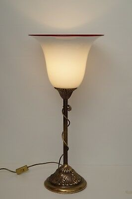 Very Large Unique Art Nouveau Table Lamp Floodlights Brass Lamp Berlin Mundgbl