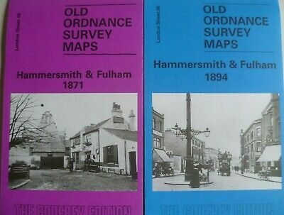 Old Ordnance Survey Maps Hammersmith & Fulham London 1871 & 1894 Sheet 86