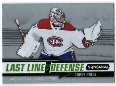 18/19 2018 UD SYNERGY HOCKEY LAST LINE OF DEFENSE CARDS (LD-X) U-Pick From List