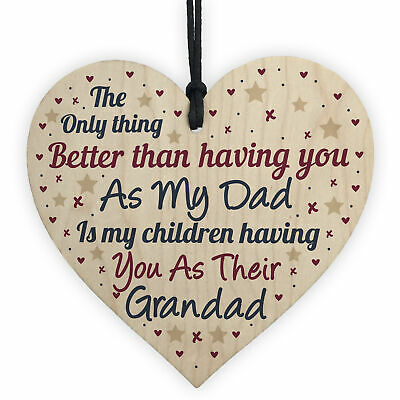 FATHER'S DAY GIFT For Dad Grandad Gift From Granddaughter Grandson Thank You