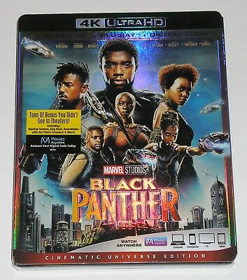 Marvel Studios Action 4K Ultra HD - Black Panther (4K Ultra HD + Blu-ray) NEW