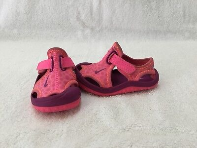 791daf3a855726 Nike Sunray Protect Infant Baby Girls Pink Purple Sandals water Shoes~size 3