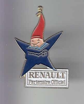 Rare Pins Pin's .. Olympique Olympic Albertville 92 Auto Renault Mascotte 2 ~17