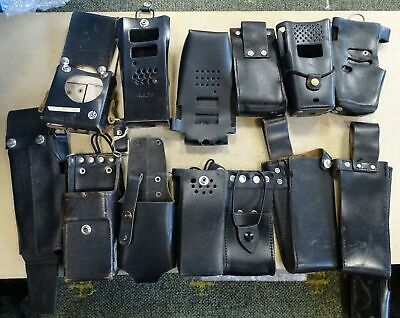 Job Lot Wholesale 40 x Mixed Old Vintage Radio Holsters - Cases For Motorola Etc