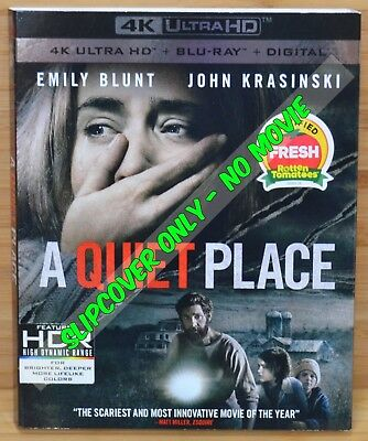 A QUIET PLACE 4K Blu-ray Slipcover (COVER ONLY-NO MOVIE DISC)