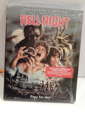 Hell Night 1981 (Blu-ray + DVD Combo Pack, 2018) Collector's Edition NEW SEALED