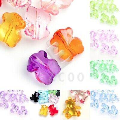 8Pcs Mixed Plastic Acrylic Clear Butterfly Spacer Beads Charms 23x30mm