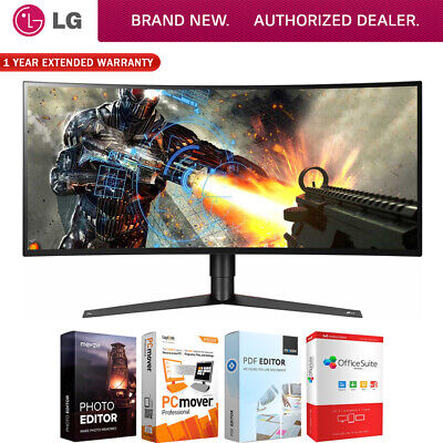 """LG 34"""" UltraWide QHD Curved LED G-SYNC Gaming Monitor w/ Software + Warranty Kit"""