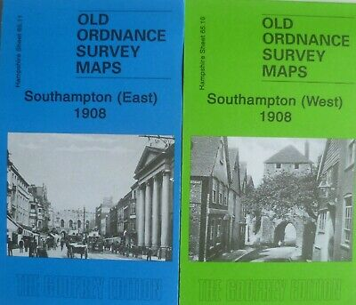 Old Ordnance Survey Maps Southampton East & West Hampshire 1908