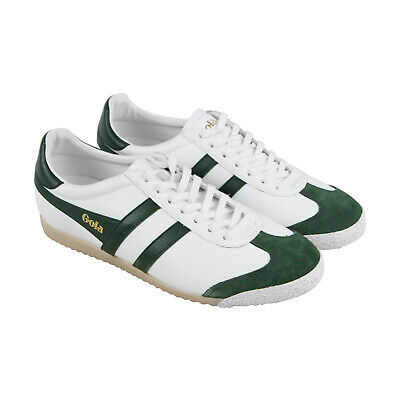 Gola Harrier 50 Mens White Leather Low Top Lace Up Sneakers Shoes
