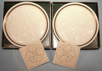 MIB NOS Pair of Lenox Seville Collection Gold Wine Bottle Coasters / Ashtrays