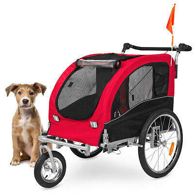 BCP 2-in-1 Pet Stroller and Trailer - Red
