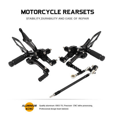 Black Rearsets Foot Pegs Rear Sets Fit For Yamaha FZ1 FAZER 1000 06-16 UK Stock