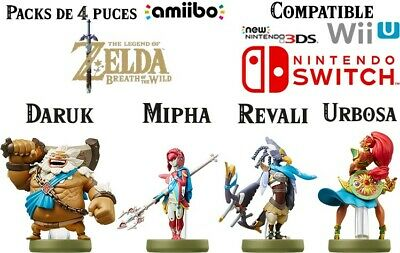 Pack de 4 amiibo Prodiges - Zelda Breath Of The Wild - NFC