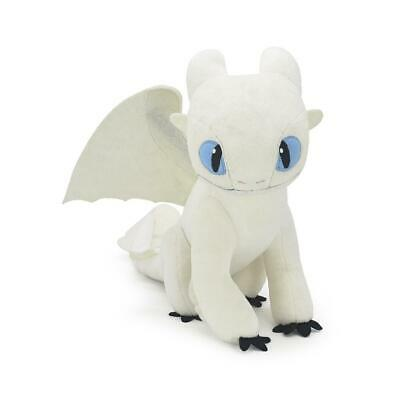 Official Licensed How to Train Your Dragon 3 LIGHT FURY Plush Doll Soft Toy 8""