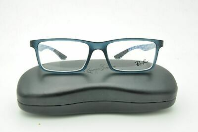a9d6adde06 RAY BAN RB 8901 5262 Matte Blue Carbon Fiber Eyeglasses 55mm + Case ...