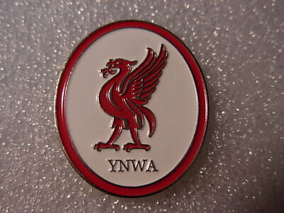 Liverpool Y.N.W.A. pin badge Liverbird. L.F.C.  Larger Red and white Oval lapel