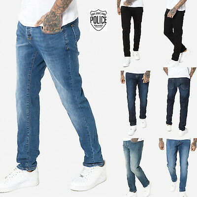 883 Police Mens Regular Fit New Straight Vintage Designer Stretch Denim Jeans