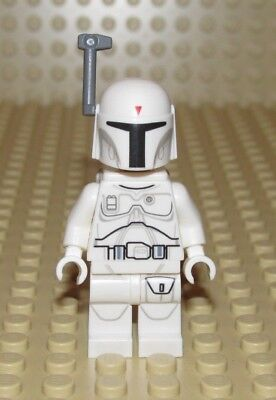 Authentic Lego Star Wars White Boba Fett Minifigure Sw631 Character