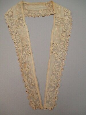 Antique Lace Shawl Collar Hand Embroidered