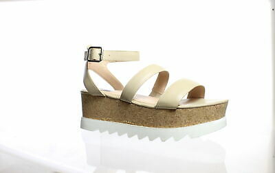 8cc6bce385b1 Steve Madden Womens Kirsten Natural Leather Ankle Strap Heels Size 10  (184519)