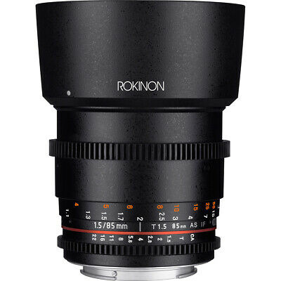 Rokinon DS 85mm T1.5 Full Frame Cine Lens for Canon EF Mount