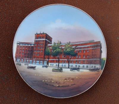 MAYO CLINIC ROCHESTER Minnesota Autos Building Souvenir Plate Jonroth  Germany