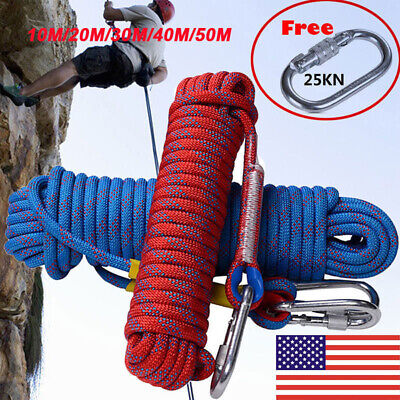 20M 10M 30M Static Rock Climbing Rope for Outdoor Activities 1500kg L4A6