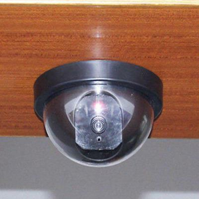 Dummy Fake Surveillance Security Dome Camera Flashing Red LED Light Sticker GL