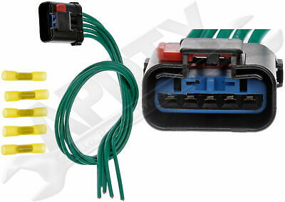 apdty 107779 blower motor resistor wiring harness pigtail connector  (5017124ac)