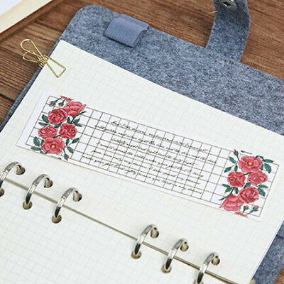 30pcs Colorful Paper Flower Bookmarks Cute Bookmark Book Marker Stationery BS