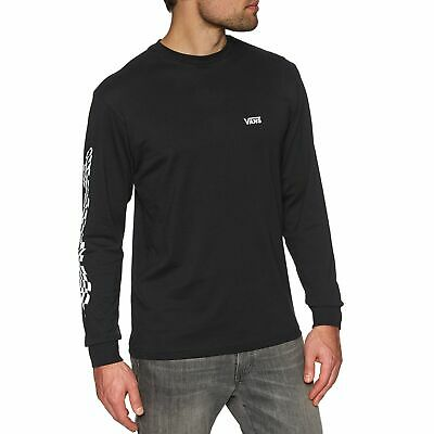 Vans Warped Check Sleeve Mens T-shirt Long - Black All Sizes