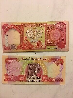 500,000 IQD - (20x) 25,000 IRAQI DINAR NOTES - FAST DELIVERY
