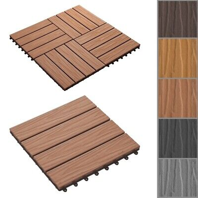 vidaXL WPC Fence Set Outdoor Garden Panel Lawn Border Posts Square Multi Choice