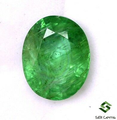 2.57 Cts Certified Natural Emerald Oval Cut 9.75x8 mm Faceted Loose Gemstone